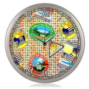Colorsaga World Stickers Wall Clock CO927DE21PJAINDFUR