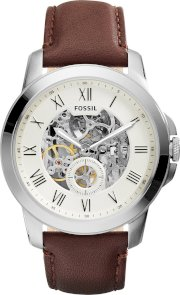 Fossil Men's Automatic Grant Brown Watch 44mm 65288