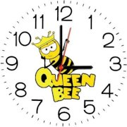 Ellicon B136 Queen Bee Analog Wall Clock (White)