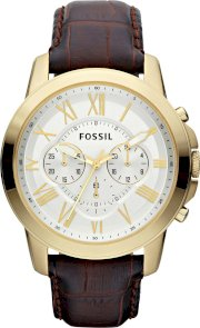 Fossil Men's Chronograph Grant Croc Embossed Watch 44mm 65245