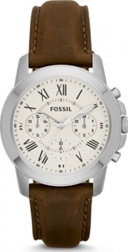 Fossil Men's Grant Chronograph Leather Watch 38mm 5006