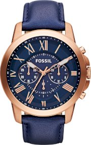 Fossil Men's Automatic Grant Navy Watch 44mm 65163