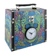 Day of the Dead Sugar Skull Stash Box/Trunk with Clock