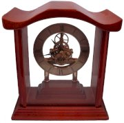 Solid Wood See Through Skeleton Qa Clock