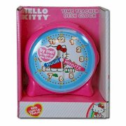 Hello Kitty Time Teacher Plastic Desk Clock with Light Up Feature
