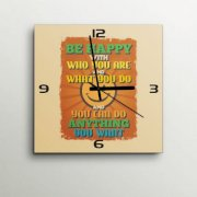 ArtEdge Be Happy Quotational Wall Clock GA420DE69FUSINDFUR