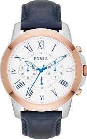 Fossil Men's Chronograph Grant Navy Watch 44mm 65287