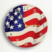 "United States Flag 10"" Silent Wall Clock"