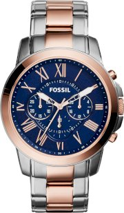Fossil Men's Chronograph Grant Two-Tone Watch 44mm 65196