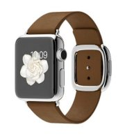 Đồng hồ thông minh Apple Watch 38mm Stainless Steel Case with Brown Modern Buckle