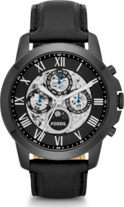 Grant Automatic Leather Watch - Black 54277