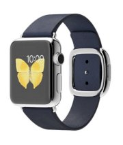 Đồng hồ thông minh Apple Watch 38mm Stainless Steel Case with Midnight Blue Modern Buckle