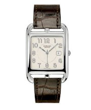Hermes Midsize Stainless Steel Leather 33mm X 33mm 63749