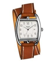 Hermes Midsize Stainless Steel Leather 30mm X 33mm 63745
