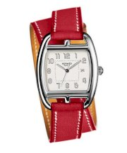 Hermes Midsize Stainless Steel Leather 30mm X 33mm 63747