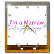 3dRose dc_193738_1 Im a Mamaw. Whats Your Superpower Hot Pink Funny Gift For Grandma Desk Clock, 6 by 6-Inch