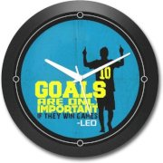 Shop Mantra Leo Messi Argentina Football Round Analog Wall Clock (Black)