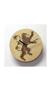 Engrave House Lannister - Game Of Thrones - Wall Clock