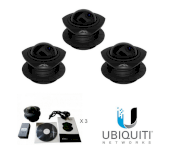 Ubiquiti AirCam-Dome H.264 megapixel camera, 1MP/HDTV Dome (3 Pack)