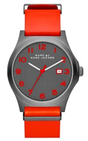 MARC JACOBS Men's Jimmy Red Leather Strap Watch 43m  MBM5060