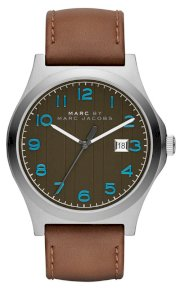 MARC JACOBS Men's Jimmy Brown Leather Strap Watch 43mm  MBM5047