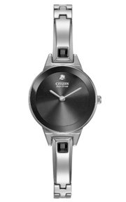 CITIZEN Silhouette Bangle Analog Display Japan ese Quartz Silver Watch 23mm Eco-Drive B023