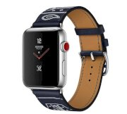 Đồng hồ thông minh Apple Watch Hermès Series 3 38mm Stainless Steel Case with Marine Gala Leather Single Tour Eperon d'Or