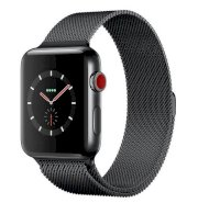 Đồng hồ thông minh Apple Watch Series 3 42mm Space Black Stainless Steel Case with Space Black Milanese Loop