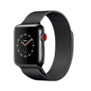 Đồng hồ thông minh Apple Watch Series 3 38mm Space Black Stainless Steel Case with Space Black Milanese Loop