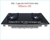 Bếp 2 Gas Torino-Italy, Bếp Gas Âm Torino, Bếp Âm Kính Torino 2 Bếp