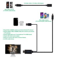 Cáp Mhl To Hdmi Adapter Kit - Cáp Kết Nối Samsung Galaxy S5 S4 S3 Note 3 Note 4
