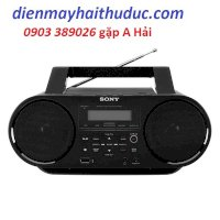 Máy Cassette Sony Zs-Rs60Bt Bluetooth, Cd, Mp3, Usb, Radio