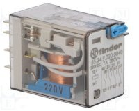 Rơ Le Relay Finder Relay: Electromagnetic; 4Pdt; Ucoil: 220Vdc; 7A/250Vac; 7A/30Vdc