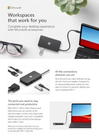 Surface Travel Hub | Dock Surface 2 | Mini Díplayport Surface | Usb-C Surface | Wireless Display V2