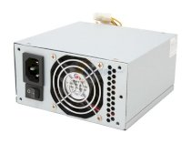POWMAX PSLP6100AA MicroATX 300W Dual Fan Power Supply with SATA 115/230 V - Retail