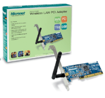 Micronet SP906GK WLAN PCI Adapter - 54 Mbps Built-in Antenna