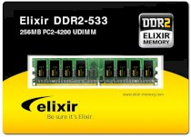Elixir - DDR2 - 256MB - bus 533MHz - PC2 4200