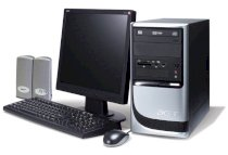 Máy tính Desktop Acer Aspire SA90 (3-007), Intel Dual Core D925(3.0GHz, Cache 4MB, Bus 800MHz), 512MB DDR2 667MHz, 80GB SATA, PC Dos
