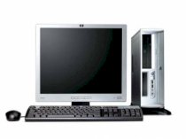 "Máy tính Desktop HP Compaq Dx2700(RC737AV) (Intel Core Duo E2140(1.6GHz, 1MB L2 Cache, 800MHz FSB), 256MB DDR2 667MHz, 80GB SATA HDD, HP 17"" CRT) PC DOS"
