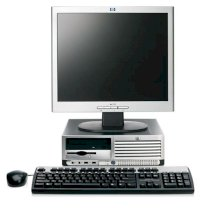 "Máy tính Desktop HP Compaq DC7600 (PU700AV) (Intel Duo Core D925 (3.0 Ghz-2x2MB Cache), 512 MB DDR2, HDD 80GB SATA , CRT 15"" HP) Windows XP Pro"