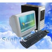 Máy tính Desktop SunPAC RB4500 1GC5180DC, Intel 945GC Chipset, Intel Core 2 Duo E4500, 512MB Bus 667MHz DDR2, Intel® Graphics Media Accelerator 950 Up to 128MB, 80GB SATA, CDRW- DVD, NIC Card 10/100/1000 Mbps Onboard, Sound Card 8 Channel Onboard, SunPAC