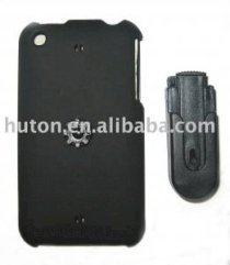 For iPhone 3G crystal case in leather feel