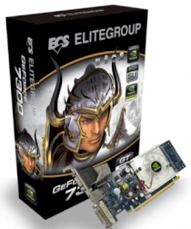 ECS N7300GT- 512DZ (GeForce 7300 GT, 512MB, 128-bit, GDDR2, PCI Express x16)