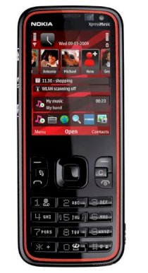 Nokia 5630 XpressMusic Red on black