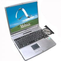 Sharp Mebius PC-GP1-M1P (AMD Duron 1.0Ghz, 256MB RAM, 20GB HDD, VGA S3, 15 inch, Windows XP Professional)