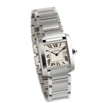 Cartier Midsize Tank Francaise Stainless Steel Watch - W51011Q3