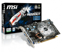 MSI N220GT-MD1G OC/D3 (NVIDIA GeForce GT 220, 1024MB, GDDR3, 128bit, PCI Express x16 2.0)
