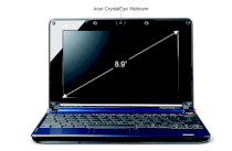 Acer Aspire One Netbook (Intel Atom N270 1.6GHz, 512MB RAM, 8GB HDD, 8.9 inch, PC Linux)
