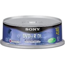 DVD+R DL Double Layer Sony (8.5GB/8X/4H)