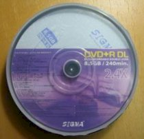 Sigma DVD+R DL Double Layer 8,5GB 8X